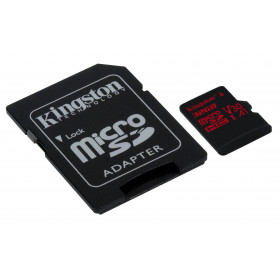 KINGSTON MICROSDHC32GB REACT UHS-I U3  ADATT. CL10 100mb/s LET 80mb/s SCR  SDCR/32B