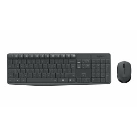 LOGITECH MK235 KIT TASTIERA E MOUSE  GRIGIO WIRELESS