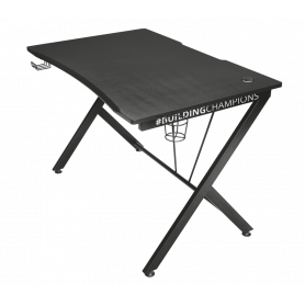 TRUST 22523 GXT-711 Dominus Gaming Desk scrivania per PC Gaming 116x75cm nera