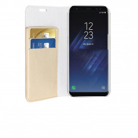 PHONIX SS8BCD SPARKLING BOOK CASE - GOLD - SAMSUNG GALAXY S8