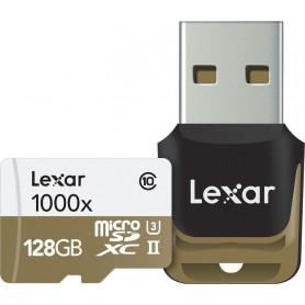LEXAR MICROSDXC 128GB 1000X  CL10 U3   ADATT. LSDMI128CBEU1000R  932702