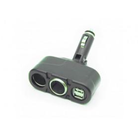 G BL 6137-Duplicatore da auto con 2 prese accendisigari e 2 prese USB  1000mA