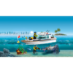 LEGO 60221 CITY GREAT VEHICLES YACHT PER IMMERSIONI