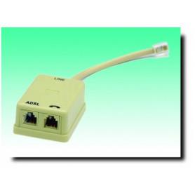 G BL 726-FILTRO ADSL SPINA PLUG 6P/4C - 2 PRESE PLUG 6P/4C