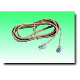 G BL 731 Cavo telefonico plug 6P/4C - plug 6P/4C bianco L.2,0m
