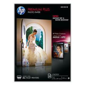 HP CR672A PREM.PLUS GLOSSY PH.PAPER A4 300GR 20FG