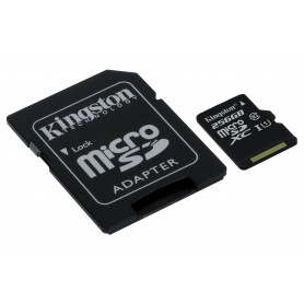 KINGSTON SDC10G2/256GB MICROSD XC 256GB CL10/U1 45MBS/R - 10MBS/W   ADATT SD
