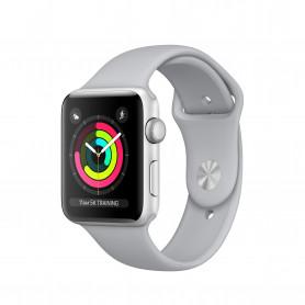 APPLE MQL02QL/A Watch Serie3 GPS 42mm Silver Aluminium Case  cinturino sport nebbia