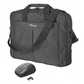 TRUST 21685 PRIMO BORSA 15/16  NERA CON MOUSE WIRELESS