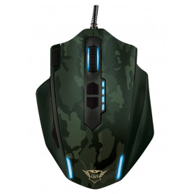 TRUST 20853 GXT155C CAMOUFLAGE VERDE 8PESI 11TASTI MOUSE GAMING CAVO USB