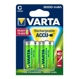 VARTA C  1/2 torcia  x 2  3.000 mAh   R2U  POWER ACCU 56714101402
