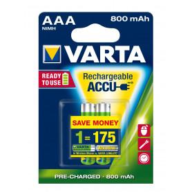 VARTA AAA  ministilo  x 2  800 mAh  RR ACCU  R2U   56703101402