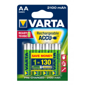 VARTA AA  stilo  x 4  2.100 mAh  RR ACCU  R2U   56706101404