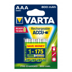 VARTA AAA  ministilo  x 4  800 mAh  RR ACCU  R2U   56703101404