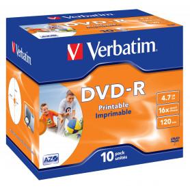 VERBATIM 43520/1 DVD-R 4.7GB 16X PRINT J.C. SINGOLO