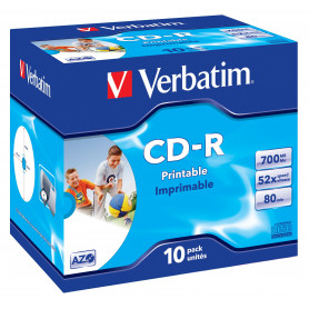 VERBATIM 43324/5 CD-R 700MB 80MIN PHOTOPRINT J.C. SINGOLO