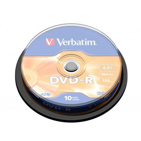 VERBATIM 43523 DVD-R 4.7GB 16X SPINDLE 10PZ