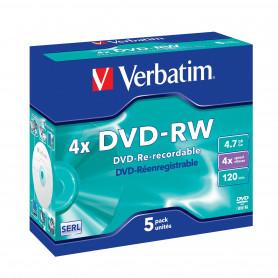 VERBATIM 43284/5 DVD-RW 4.7GB 4X JC