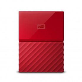 W.D. WDBS4B0020BRD MY PASSPORT 2TB 2.5   USB3.0 ROSSO HARD DISK EXT