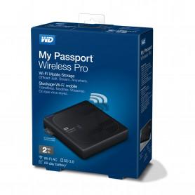 W.D. WDBP2P0020BBK MY PASSPORT WIRELESS PRO 2TB HARD DISK USB3.0   WIFI