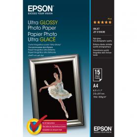 EPSON C13S041927 CARTA FOTO GLOSSY ULTRA A4 15F 300GR