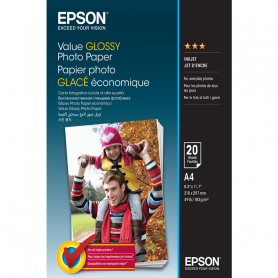 EPSON C13S400035 VALUE GLOSSY PHOTO PAPER A4 20FF 183GR