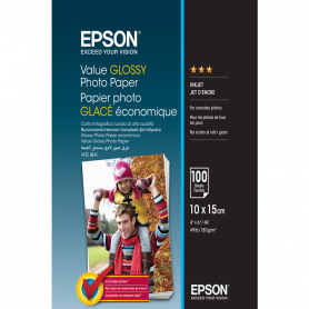 EPSON C13S400039 VALUE GLOSSY PHOTO PAPER 10X15CM 100FF 183GR