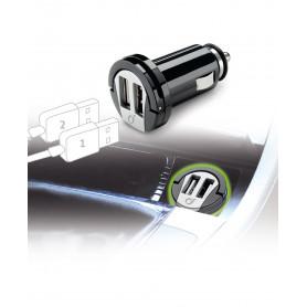 CELLULAR MICROCBRUSBDUAL2A CARICABATTERIA AUTO 2A DUAL USB NERO