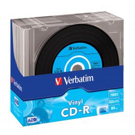 VERBATIM 43426 CD-R 700MB 52V VINYL 10PZ SLIM