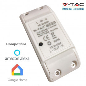 V-TAC 8422 WIFI ONLINE SWITCH COMPATIBLE WITH AMAZON ALEXA AND GOOGLE HOME