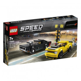LEGO 75893 SPEED CHAMPIONS 2018 DODGE CHALLENGER SRT DEMON E 1970 DODGE CHARGER R/T