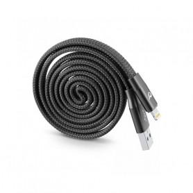 CELLULAR USBDATAROLMFIK CAVO USB RIAVVOLGIBILE  MFI NERO