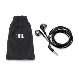 JBL T205 BLK AURIC. TIPO APPLE COM./MIC CAVO PIATTO