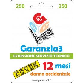 Garanzia3 Cover 12 Mesi Massimale 250  G3CPD250