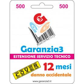 Garanzia3 Cover 12 Mesi Massimale 500  G3CPD500
