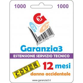 Garanzia3 Cover 12 Mesi Massimale 1000  G3CPD1000