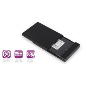 EWENT EW7044 BOX PER HARDDISK 2.5   USB3.1 SENZA VITI