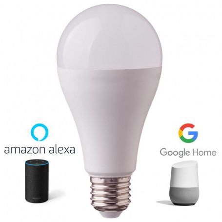 V-TAC 7470 LED BULB 20W E27 COMPATIBILE CON AMAZON ALEXA E GOOGLE HOME RGB 3IN1