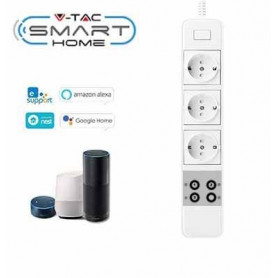 V-TAC 8420 WIFI POWER STRIP COMPATIBLE WITH AMAZON ALEXA AND GOOGLE HOME