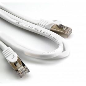 G BL 30024 - Cavo di rete PATCH  Cat 7 FTP - Doppia schermatura 26AWG - Copper - Bianco - mt. 1,00