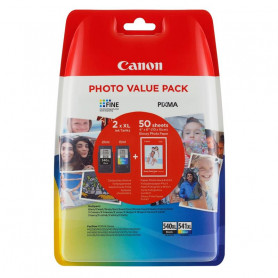 CANON PG540 XL / CL-541 XL PHOTO PACK CARTUCCIA NERO   COLORI   CARTA FOTO 100FF 10x15