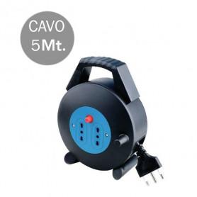 V-TAC 8700 2 PRESE 2P T 10/16A BIPASSO CON PROT TERMICA RIPR CAVO 5M 3X1.5MM CON SPINA DA 16A