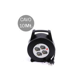 V-TAC 8701 4 PRESE BIPASSO/SCHUKO CON PROT TERMICA RIP CAVO LUNGHEZZA 10M 3X1.5MM CON SPINA DA 16A