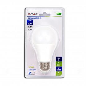 V-TAC 7390 Lampadina LED 9W A60 E29 3000K  Blister 1 pezzo