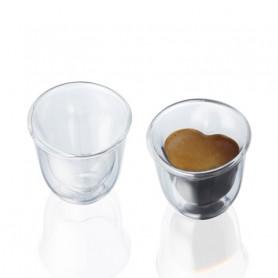 BRANDANI 54945 BICCHIERINO CUOR DI CAFFE SET 2 PEZZI DOPPIA PARETE VETRO