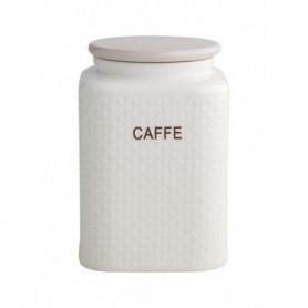 BRANDANI 53573 BARATTOLO CAFFE  PORCELLANA BIANCA C/TAPPO BAMBOO NATURALE