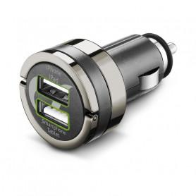 CELLULAR CBRUSBDUAL4AK CARICABATTERIA AUTO 4A DUAL USB NERO