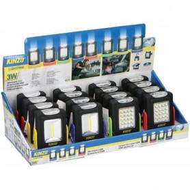 MKC TORCIA DA LAVORO A LED 3W 20 3 LED FRONTALI MODELLO 0 CON MAGNETE E GANCIO KINZO 1293 499048784