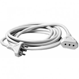 MKC 492517359  Prolunga elettrica bianca spina 10a-presa 10a 5mt 3x1mmq