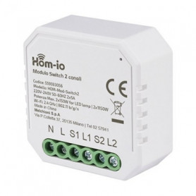 HOM-IO CONTATTO WIFI SWITCH 10A - 2300W - 220V/12-24V